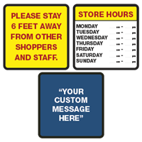Store Front Safety Signs
