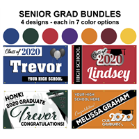 Graduation Signage – 4 designs, each available in 7 color options