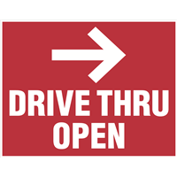 Yard Signs - Drive Thru Open