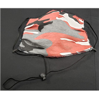 Camo Face Mask – Brick Red/White/Black