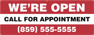 Exterior Banner (8'x3') - Call For Appointment