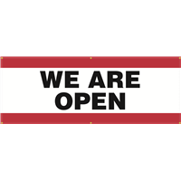 Exterior Banner (8'x3') - We Are Open