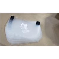 Replacement FACE SHIELD plus HOOK velcro (no headpiece) (sold in pkgs of 10)