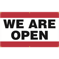 Exterior Banner (5'x3') - We Are Open