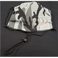 Camo Face Mask - Black/White/Grey